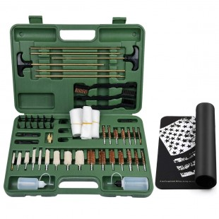 IUNIO Gun Cleaning Kit Universal Supplies for Rifles Shotgun Handgun Muzzleloader Pistol Cleaning Kit for All Guns with Gun Brush Bore Mop Jag Portable Travel Case By