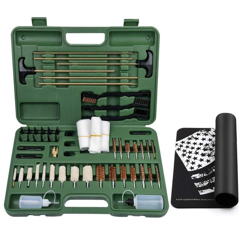 3 pcs Universal Shotgun Rifle Gun Brushes Gun Cleaning Tool Kit Black