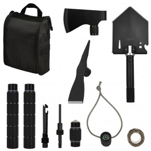 Survival Off-roading Tool Kit Folding Shovel Camping Axe Multitool Pickaxe with Carrying Bag for Campers Hikers Off-roaders Survivalists Outdoor Gardening Backpacking Hiking Entrenching Car Emergency