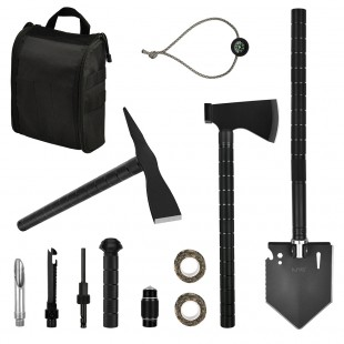 Survival Off-roading Tool Kit Folding Shovel Camping Axe Multitool Pickaxe with Carrying Bag for Campers Hikers Off-roaders Survivalists Outdoor Gardening Backpacking Hiking Entrenching Car Emergency iunio